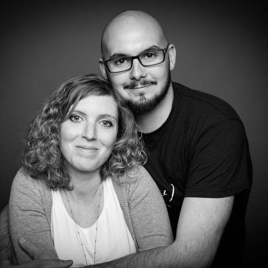 Portrait de couple Florine et Baptiste