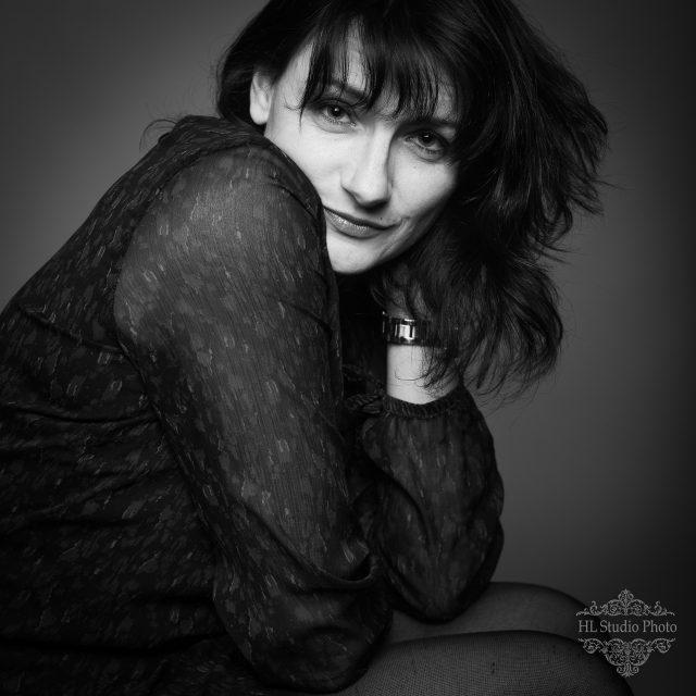 Portrait noir et blanc Sophie Zint