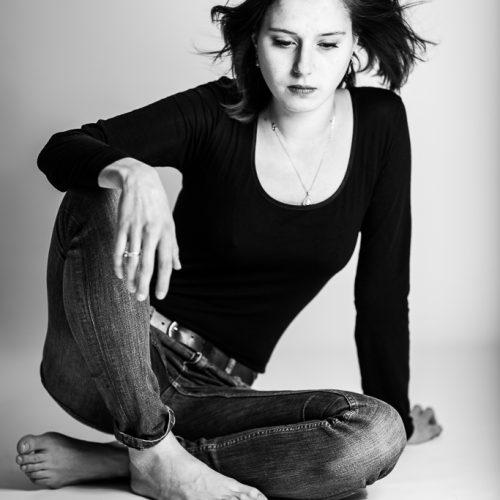 Portrait noir et blanc Louise